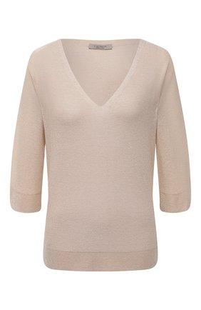 Женский пуловер из вискозы D.EXTERIOR бежевого цвета, арт. 52367   Фото 1