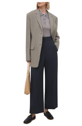 Женское шерстяное поло NANUSHKA серого цвета, арт. HATTI_LIGHT GREY_SUPER FINE MERIN0 KNIT | Фото 2