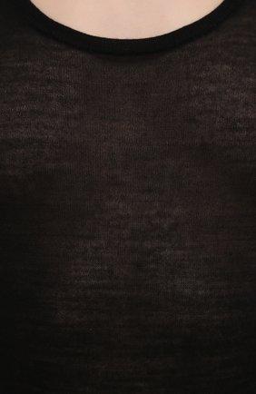 Женский топ NANUSHKA черного цвета, арт. ARTI_BLACK_SUPER FINE MERIN0 KNIT | Фото 5