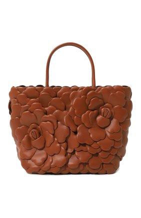 Женская сумка-тоут valentino garavani atelier rose VALENTINO коричневого цвета, арт. VW2B0I34/IKP | Фото 1