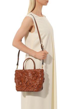 Женская сумка-тоут valentino garavani atelier rose VALENTINO коричневого цвета, арт. VW2B0I34/IKP | Фото 2