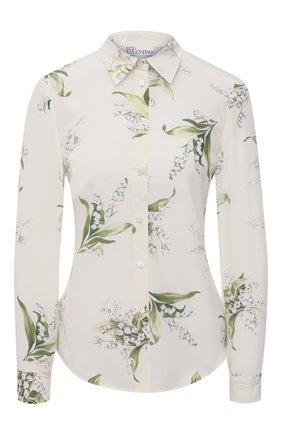 Женская шелковая рубашка REDVALENTINO кремвого цвета, арт. VR3ABE95/5M3 | Фото 1