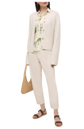 Женская шелковая рубашка REDVALENTINO кремвого цвета, арт. VR3ABE95/5M3 | Фото 2