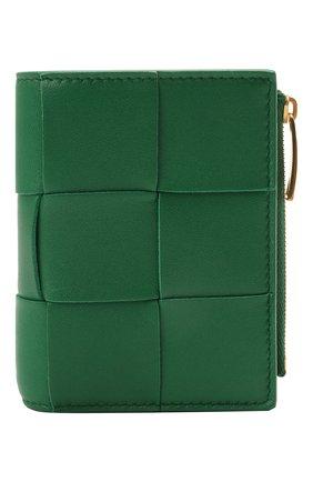 Женские кожаное портмоне BOTTEGA VENETA зеленого цвета, арт. 651381/VCQC4 | Фото 1
