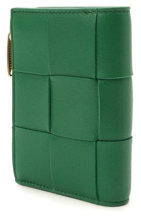 Женские кожаное портмоне BOTTEGA VENETA зеленого цвета, арт. 651381/VCQC4 | Фото 2