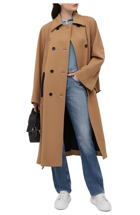 Женские кожаные кеды CASADEI белого цвета, арт. 2X813P0201T0278A810 | Фото 2
