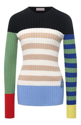 Женский хлопковый пуловер 1 moncler jw anderson MONCLER GENIUS синего цвета, арт. G1-09E-9C000-01-M1108   Фото 1