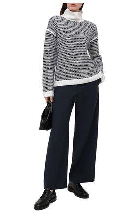 Женский свитер из шелка и хлопка LORO PIANA синего цвета, арт. FAL5238 | Фото 2