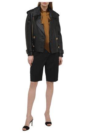 Женская кожаная куртка BALMAIN черного цвета, арт. VF19495/L062 | Фото 2