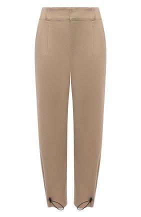 Женские хлопковые брюки ALICE + OLIVIA бежевого цвета, арт. CL000083105   Фото 1
