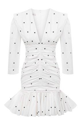 Женское хлопковое платье PHILOSOPHY DI LORENZO SERAFINI белого цвета, арт. A0441/744 | Фото 1