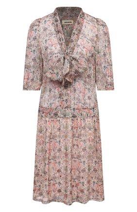 Женское платье ZADIG&VOLTAIRE светло-бежевого цвета, арт. SKCE0401F | Фото 1