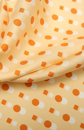 Женский шелковый платок LORO PIANA желтого цвета, арт. FAL5128   Фото 2 (Материал: Текстиль, Шелк)
