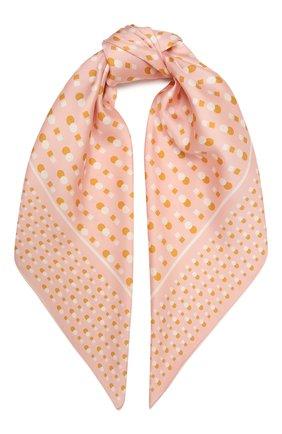 Женский шелковый платок LORO PIANA розового цвета, арт. FAL5128   Фото 1