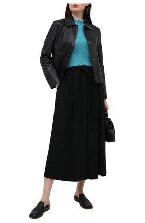 Женская кожаная куртка LORO PIANA темно-синего цвета, арт. FAL5450 | Фото 2