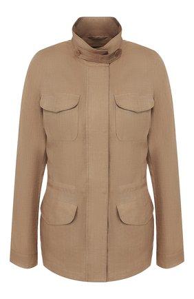Женская льняная куртка LORO PIANA коричневого цвета, арт. FAF6362 | Фото 1
