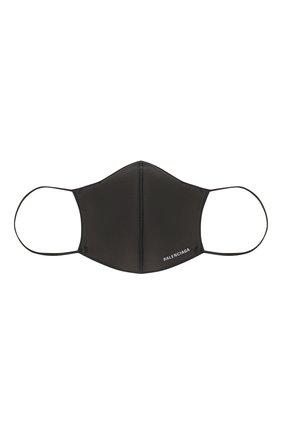 Мужская маска для лица BALENCIAGA черного цвета, арт. 649257/3A5B9   Фото 2 (Мужское Кросс-КТ: Маска; Материал: Текстиль)