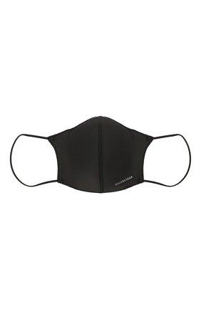 Мужская маска для лица BALENCIAGA черного цвета, арт. 649257/3A5B9   Фото 1 (Мужское Кросс-КТ: Маска; Материал: Текстиль)