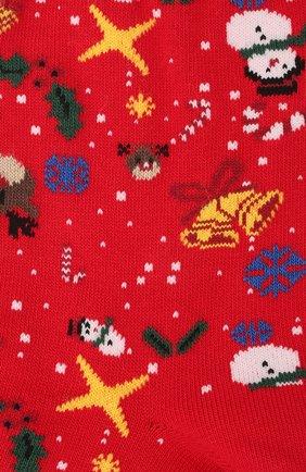 Женские хлопковые носки BALENCIAGA красного цвета, арт. 641569/3A4B4   Фото 2
