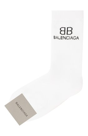 Женские носки BALENCIAGA белого цвета, арт. 640610/3A4B5   Фото 1