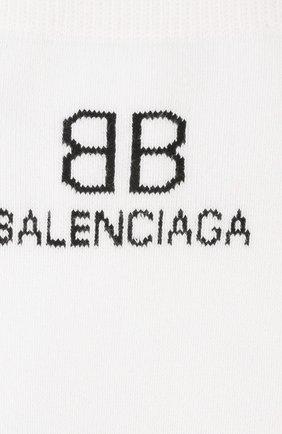 Женские носки BALENCIAGA белого цвета, арт. 640610/3A4B5   Фото 2