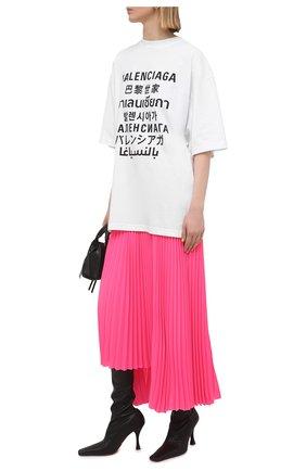 Женская плиссированная юбка BALENCIAGA розового цвета, арт. 625492/TG008 | Фото 2