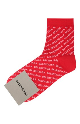 Женские носки BALENCIAGA красного цвета, арт. 617766/3A0B1 | Фото 1