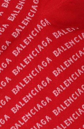 Женские носки BALENCIAGA красного цвета, арт. 617766/3A0B1   Фото 2