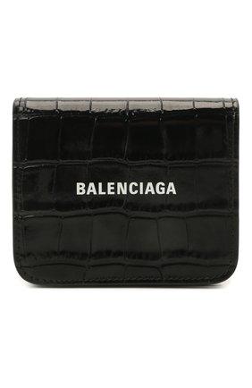 Женские кожаное портмоне BALENCIAGA черного цвета, арт. 594216/1LRR3 | Фото 1