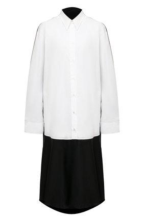 Женское платье из хлопка и вискозы MM6 черно-белого цвета, арт. S62CT0124/STN996   Фото 1