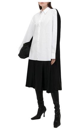 Женское платье из хлопка и вискозы MM6 черно-белого цвета, арт. S62CT0124/STN996   Фото 2