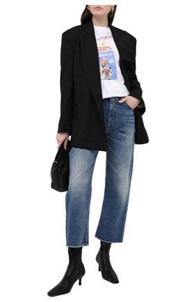 Женская хлопковая футболка MM6 белого цвета, арт. S52GC0179/S23588 | Фото 2