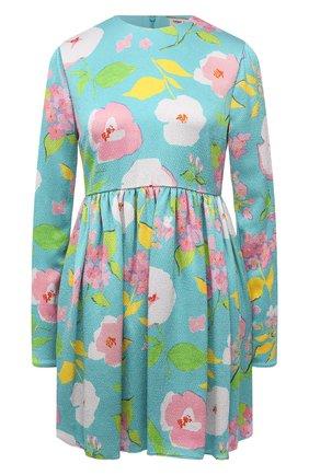 Женское платье из  вискозы SAINT LAURENT бирюзового цвета, арт. 652176/Y5C62   Фото 1