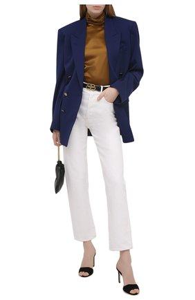 Женская шелковая блузка SAINT LAURENT коричневого цвета, арт. 631071/Y001W | Фото 2