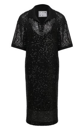 Женское платье с пайетками IN THE MOOD FOR LOVE черного цвета, арт. TENNIS DRESS | Фото 1
