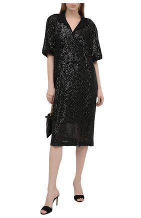 Женское платье с пайетками IN THE MOOD FOR LOVE черного цвета, арт. TENNIS DRESS | Фото 2