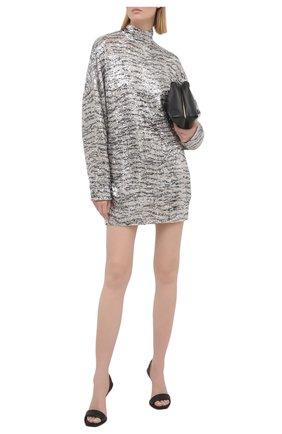 Женское платье с пайетками IN THE MOOD FOR LOVE серебряного цвета, арт. PRINTED MARCEAU DRESS | Фото 2
