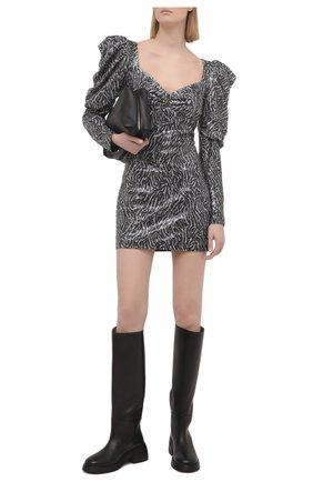 Женское платье с пайетками IN THE MOOD FOR LOVE черно-белого цвета, арт. M0RAG DRESS | Фото 2