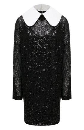 Женское платье с пайетками IN THE MOOD FOR LOVE черного цвета, арт. DAVINA DRESS | Фото 1