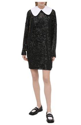 Женское платье с пайетками IN THE MOOD FOR LOVE черного цвета, арт. DAVINA DRESS | Фото 2