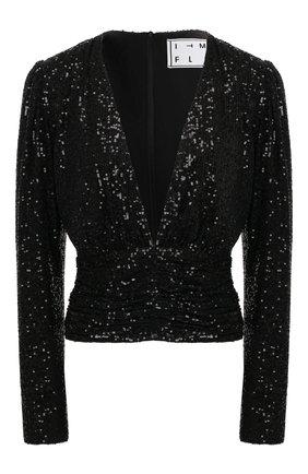 Женская блузка с пайетками IN THE MOOD FOR LOVE черного цвета, арт. AGNES T0P | Фото 1