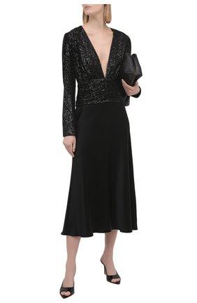Женская блузка с пайетками IN THE MOOD FOR LOVE черного цвета, арт. AGNES T0P | Фото 2