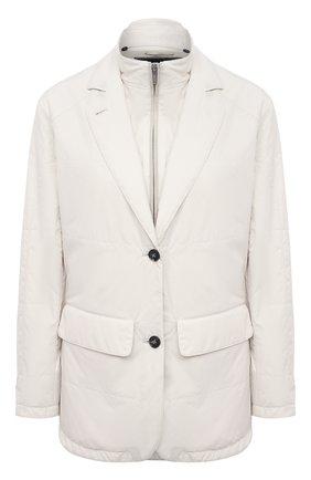 Женская куртка KITON бежевого цвета, арт. DW0859MV07T61 | Фото 1
