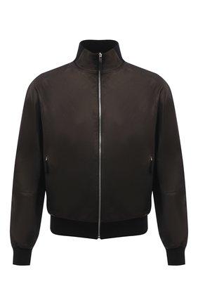 Мужской кожаный бомбер ANDREA CAMPAGNA черного цвета, арт. 60400E1652600 | Фото 1