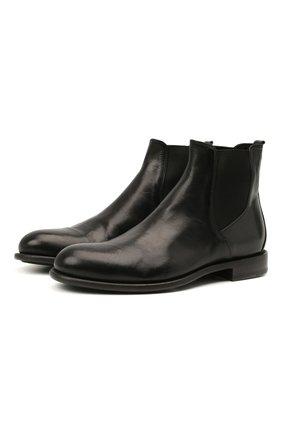 Мужские кожаные челси PANTANETTI черного цвета, арт. 14480E/LEGACY   Фото 1