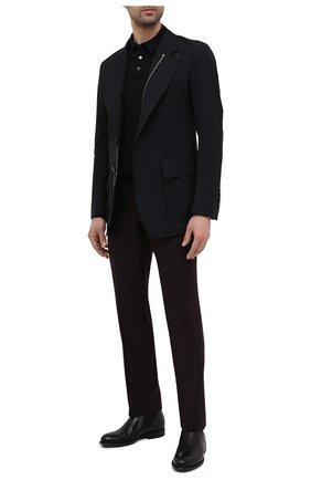 Мужские кожаные челси PANTANETTI черного цвета, арт. 14480E/LEGACY   Фото 2