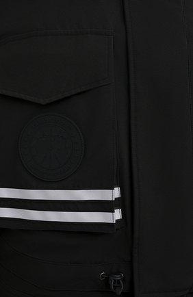 Мужская пуховая парка snow mantra CANADA GOOSE черного цвета, арт. 8800MC   Фото 5 (Кросс-КТ: Куртка; Мужское Кросс-КТ: пуховик-короткий; Рукава: Короткие; Материал внешний: Синтетический материал; Стили: Спорт-шик; Материал подклада: Синтетический материал)