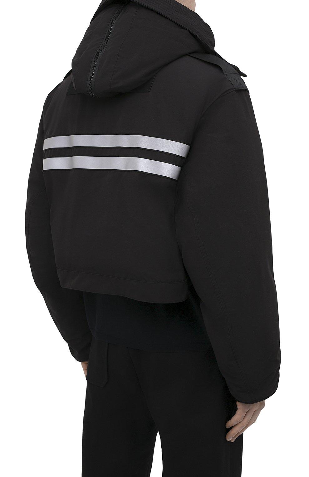 Мужская пуховая парка snow mantra CANADA GOOSE черного цвета, арт. 8800MC   Фото 8 (Кросс-КТ: Куртка; Мужское Кросс-КТ: пуховик-короткий; Рукава: Короткие; Материал внешний: Синтетический материал; Стили: Спорт-шик; Материал подклада: Синтетический материал)