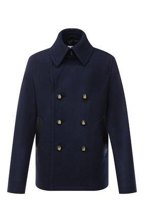Мужской шерстяное пальто LANVIN темно-синего цвета, арт. RM-0U0011-4808-P21 | Фото 1