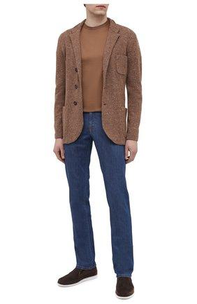 Мужские кожаные слипоны ALDO BRUE темно-коричневого цвета, арт. AB8014G-NS | Фото 2